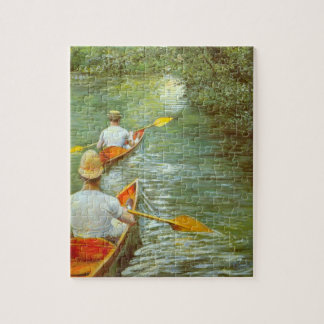 The Canoes, Perissoires by Gustave Caillebotte Jigsaw Puzzle