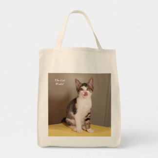 The Can's Open Humorous Tabby Cat Tote