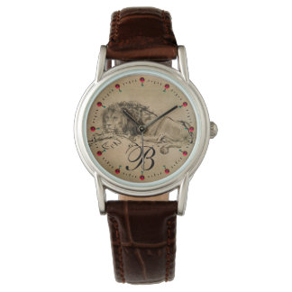 THE CAPE LION LYING DOWN, Brown Sepia Monogram Watch