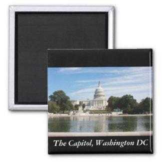The Capitol, Washington DC Square Magnet