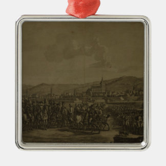 The Capitulation of Ulm in October 1805 Silver-Colored Square Ornament