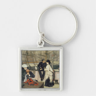 The Captain and the Mate, 1873 Silver-Colored Square Keychain