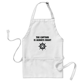 The Captain Is Always Right Standard Apron