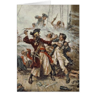 The Capture of Blackbeard Card