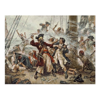 The Capture of Blackbeard Postcard