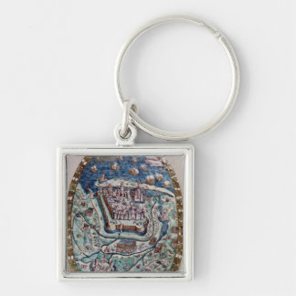 The Capture of Calais by the French in 1558 Silver-Colored Square Keychain