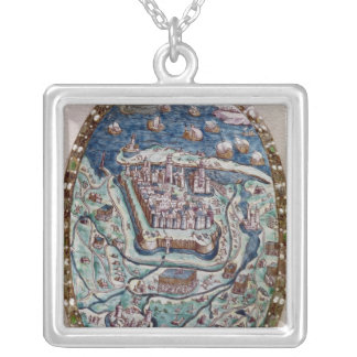 The Capture of Calais by the French in 1558 Silver Plated Necklace