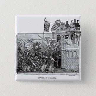 The Capture of Damietta in 1249 2 Inch Square Button