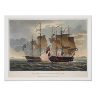 The Capture of the Chesapeake, June 1st 1813, engr Poster