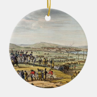 The Capture of Ulm, 17 October 1805, engraved by L Round Ceramic Ornament