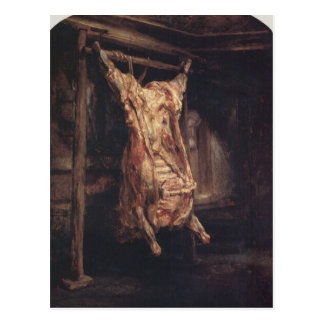 The Carcass of an Ox by Rembrandt Postcard