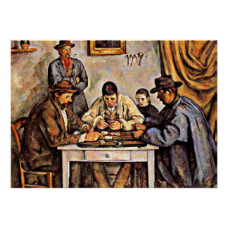 The Card Players (3), Paul Cezanne painting Poster