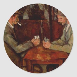 The Card Players, Claude Cezanne Classic Round Sticker