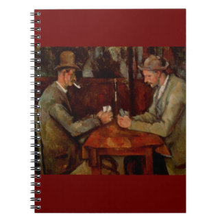 The Card Players, Claude Cezanne Spiral Notebook