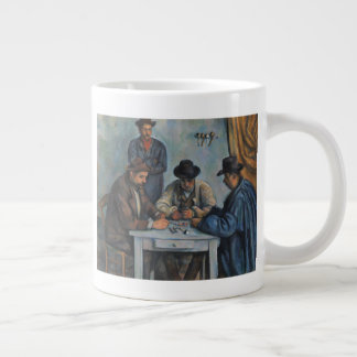 The Card Players Large Coffee Mug