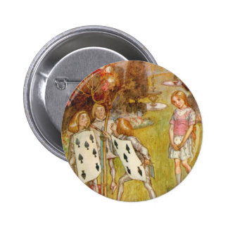 THE CARDMEN ARE PAINTING THE QUEEN'S ROSES 2 INCH ROUND BUTTON