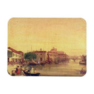 The Careenage, Bridgetown, Barbados, c.1848 Magnets
