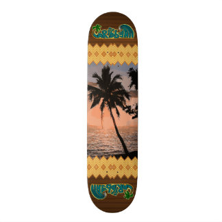 The Caribbean Palm Scene Skateboard