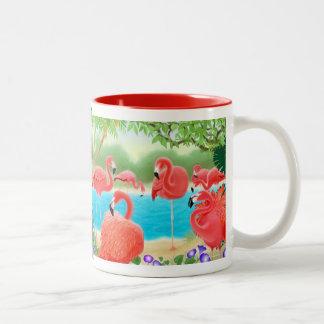 The Caribbean Pink Flamingo Mug