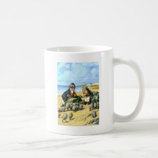 The Carpenter and the Walrus in Wonderland Coffee Mug