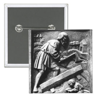 The Carpenter, detail from an altarpiece 2 Inch Square Button