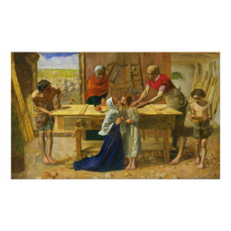The Carpenter's Shop by John Everett Millais Poster