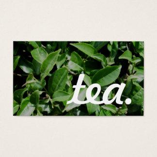 thé. carte perforée de fidélité