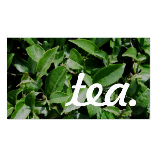 thé. carte perforée de fidélité carte de visite standard