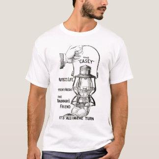 The CASEY Railroad lantern black design shirt