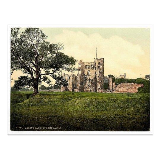 The Castle, Ashby-de-la-Zouch, England vintage Pho Postcard