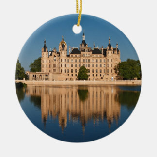 The castle in Schwerin in Germany Ceramic Ornament