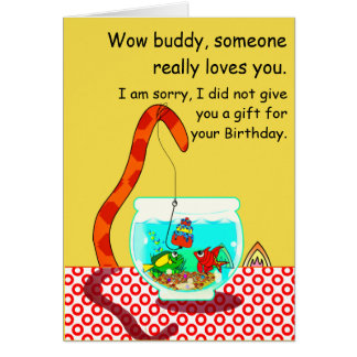 The Cat And The Fish Bowl Birthday Card