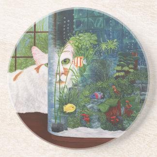 The Cat Aquatic Beverage Coasters