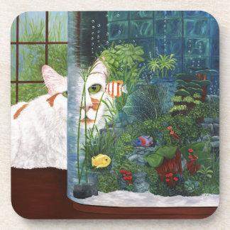 The Cat Aquatic Drink Coasters