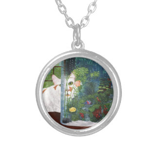 The Cat Aquatic Silver Plated Necklace