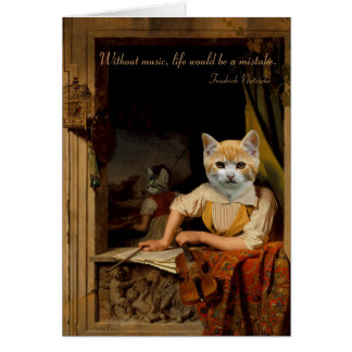 The Cat Artists - Anthropomorphic Composite Card