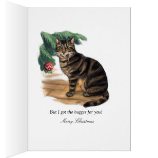The Cat Before Christmas Christmas Card