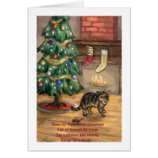 The Cat Before Christmas Christmas Card -Easy Read