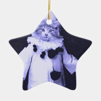 The Cat Clown Ceramic Star Ornament