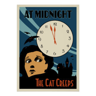 """""""The Cat Creeps"""" Vintage Movie poster"""