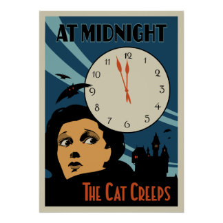 The Cat Creeps Vintage Movie poster