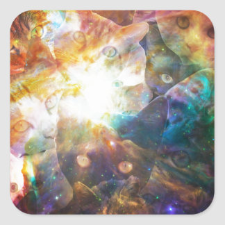 The Cat Galaxy Square Sticker