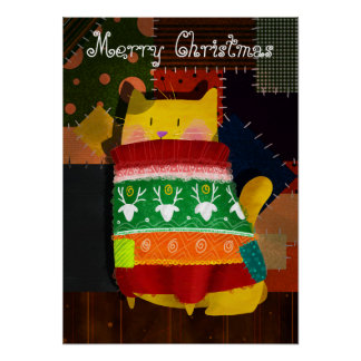 The Cat in the Ugly Sweater Poster