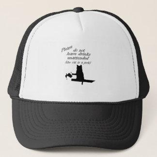 The Cat is a Jerk Trucker Hat
