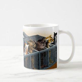 The Cat Piano Basic White Mug