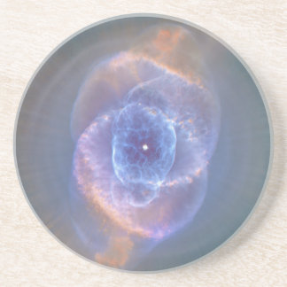The Cat s Eye Nebula Dying Star Gas and Dust Beverage Coasters