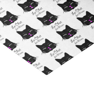 The Cat Says Meow!  Cute French Kitten Cartoon Tissue Paper