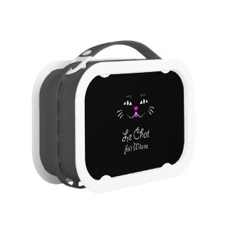 The Cat Says Meow!  Funny French Kitty Cat Lunch Boxes