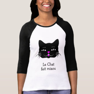 The Cat Say's Miaou Cute French T-Shirt