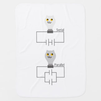 The cat the wax light bulb series parallel baby baby blanket